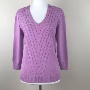 St. John sport wool sweater size small lilac